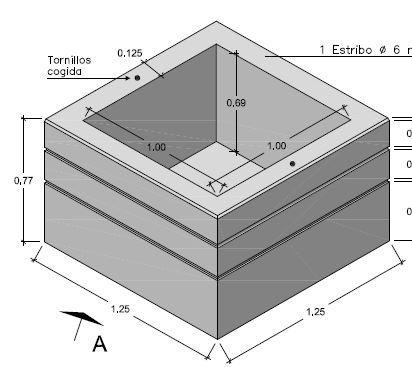 Macetero Prefabricado de Hormigón apto para uso exterior.